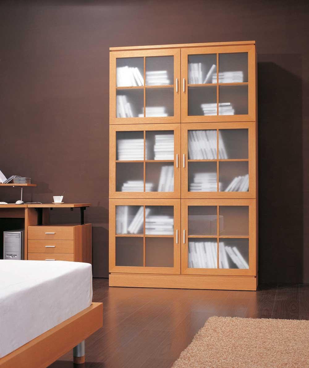 Книжный шкаф со стеклом мадам аннин.