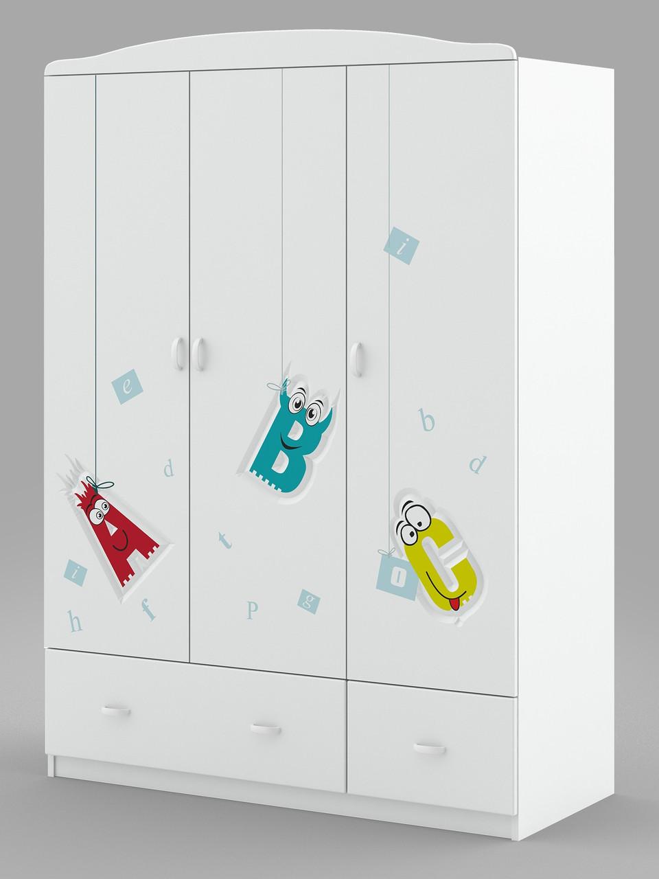 Шкаф трехстворчатый детский