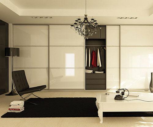 Шкаф в современном интерьере