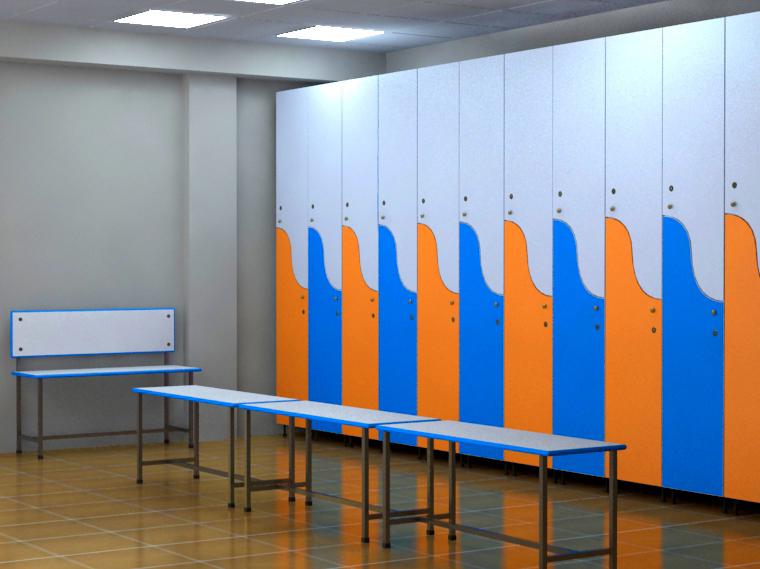 Шкафы для фитнес центра