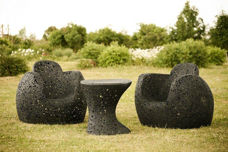 Садовая мебель из базальта