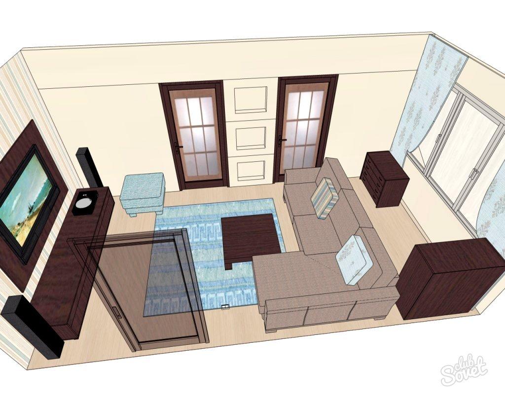 Сделайте план будущего помещения