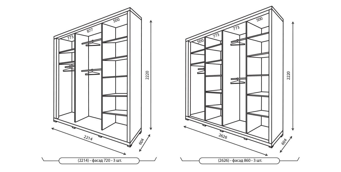 Схема сбора шкафа купе стандарт