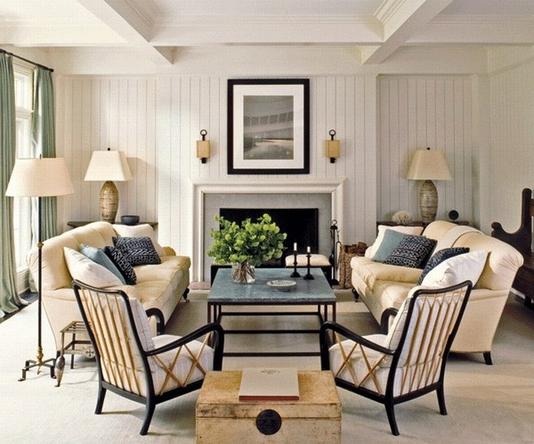 Симметричная расстановка мебель