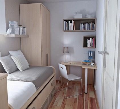 Современная мебель в маленькой комнате