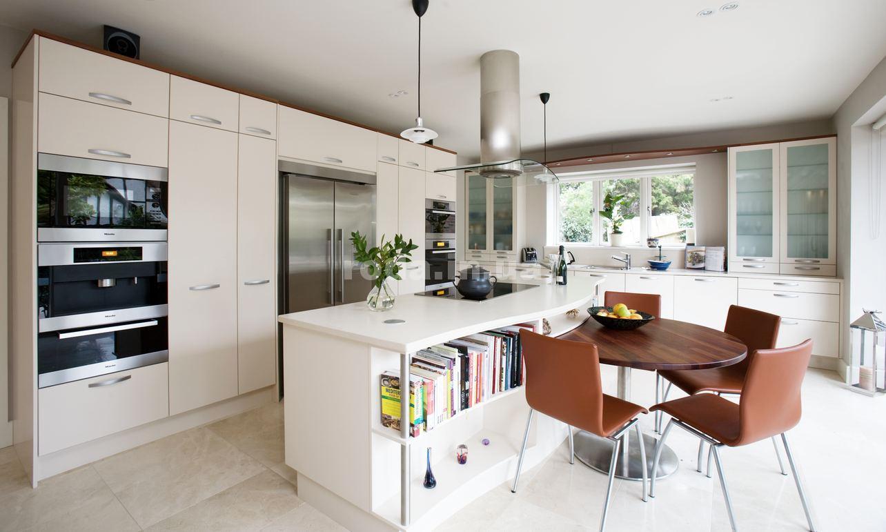 Современные кухни в белых тонах