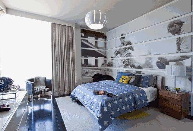 Спальня мальчика в синем тоне
