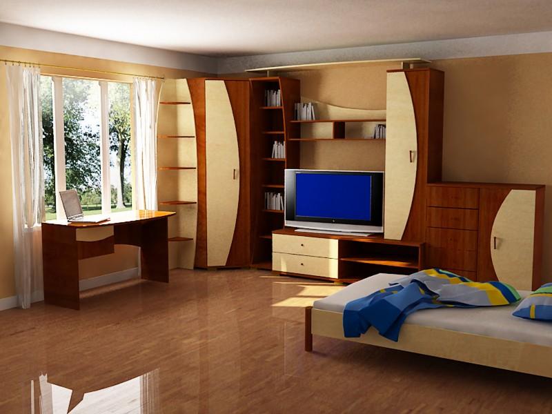 Спальня с красивым оформлением