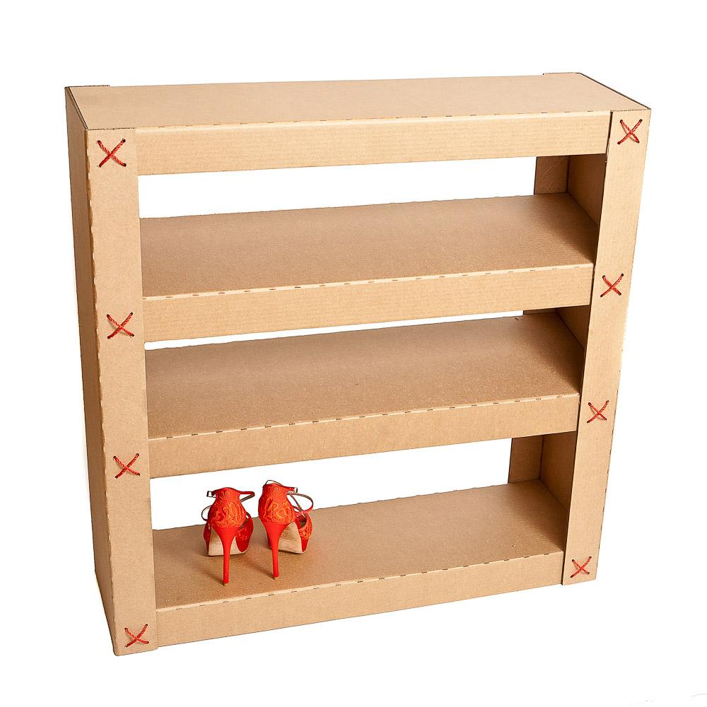 Стеллаж для обуви на основе картона
