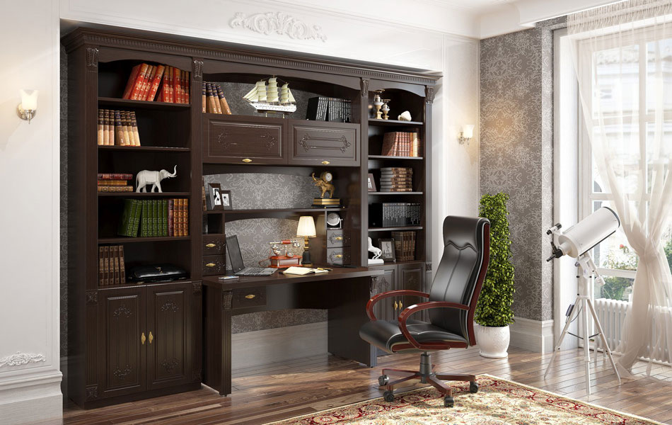 Стенка-стол для кабинета