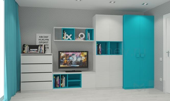 Стильная голубая мебель