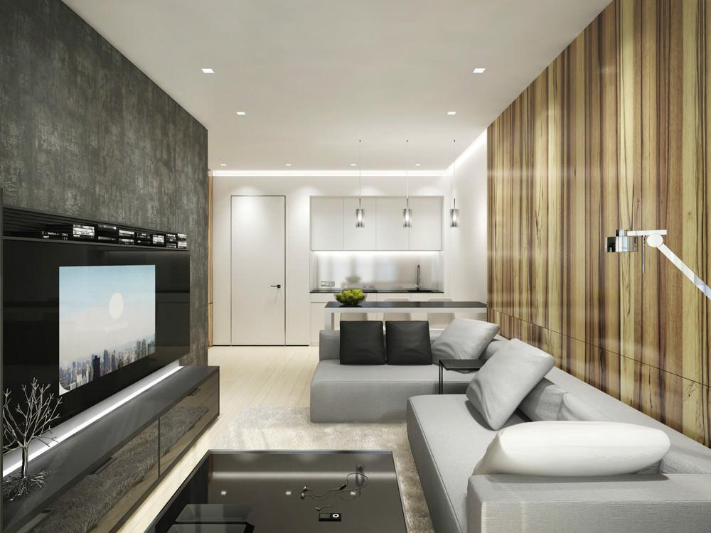 Стильная однокомнатная квартира в стиле минимализм