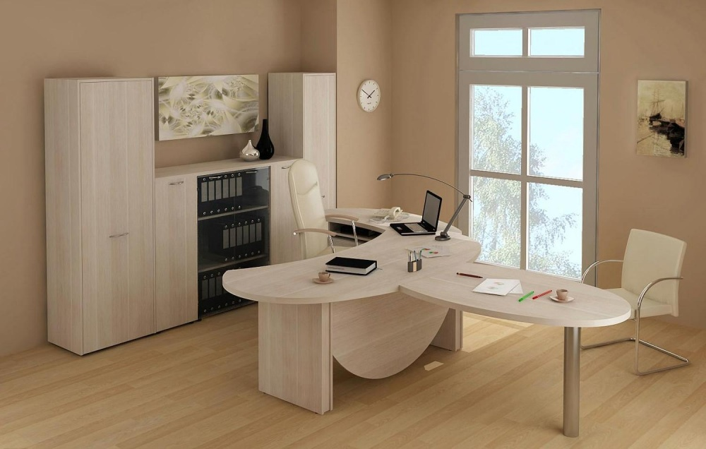 Светлая корпусная мебель из ДСП