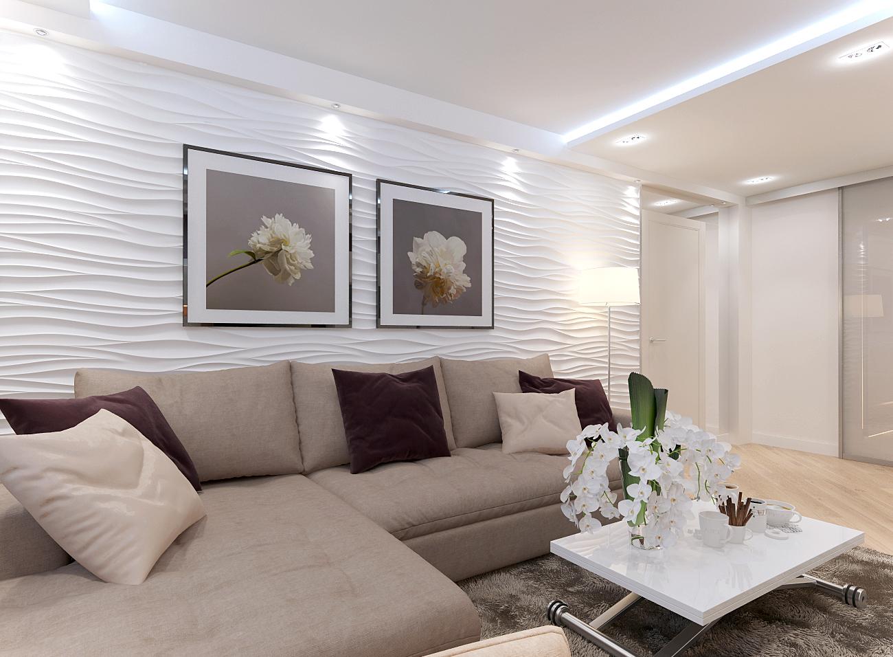 Светлые оттенки коричневого дивана