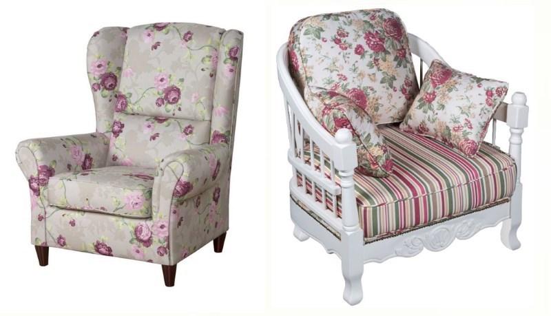 Цветочный принт мягкой мебели