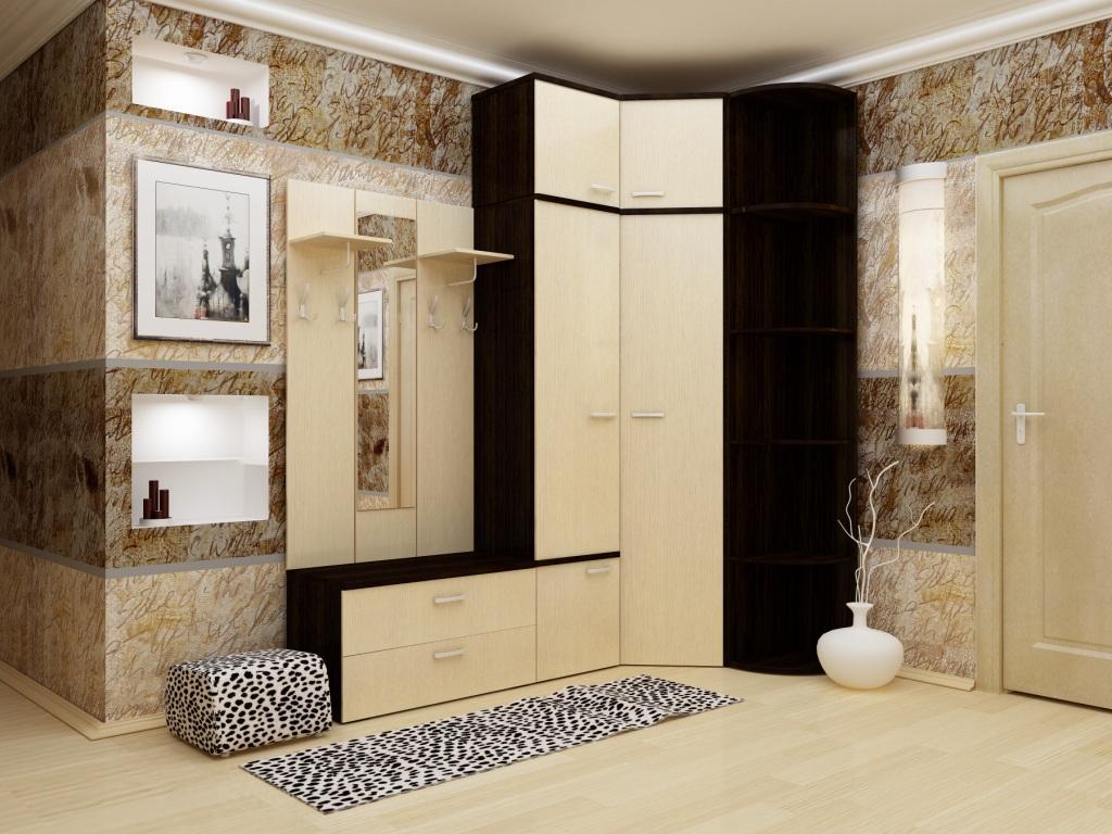 Темная комната с угловым шкафом