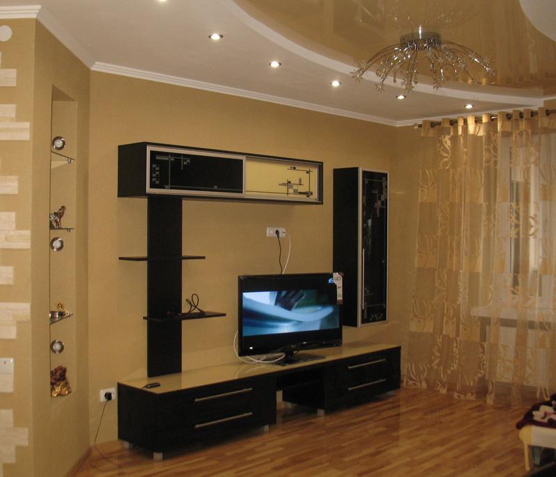 Темная мебель для зала
