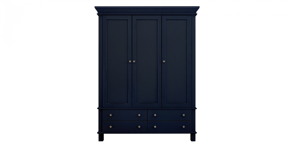 Темно-синий шкаф