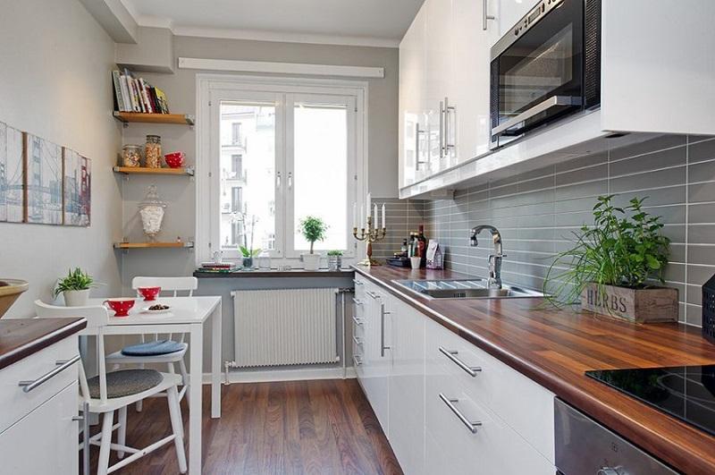 Традиционная расстновка мебели на кухне