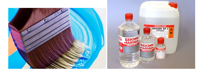 Убираем пятна краски на тканевом покрытии