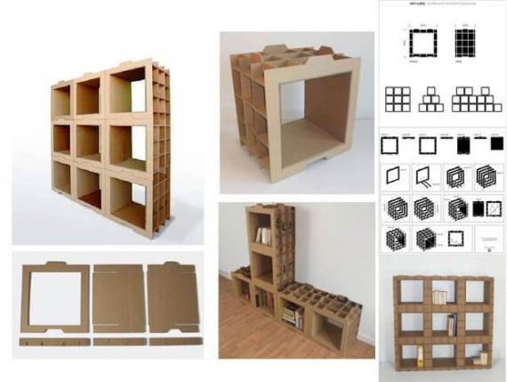 Удобная модульная мебель из картона