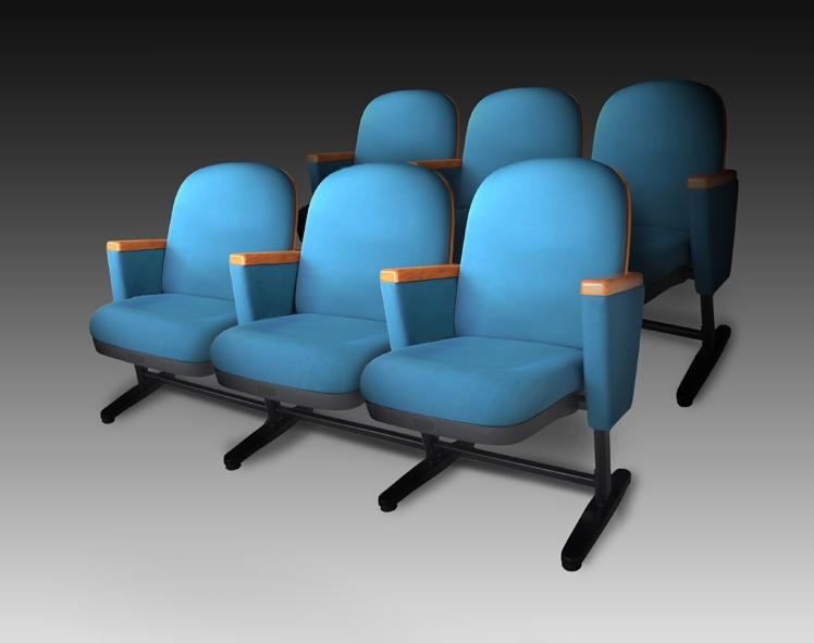 Удобные кресла голубого цвета