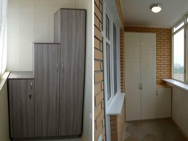 Удобный и красивый шкаф для балкона