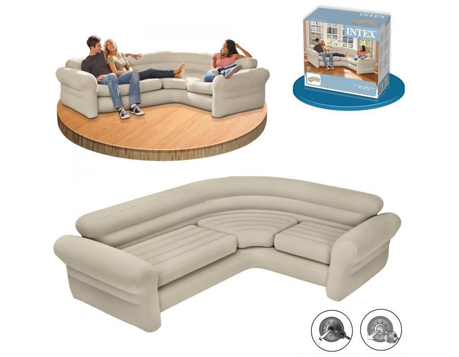 Угловой диван надувного типа