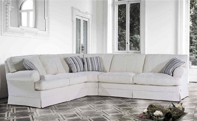 Угловой диван в стиле неоклассика