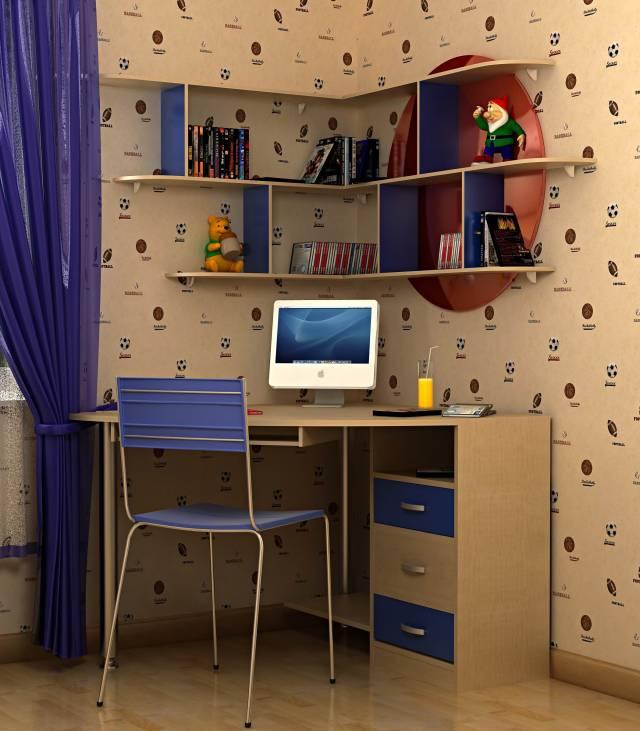Угловой стол для ученика