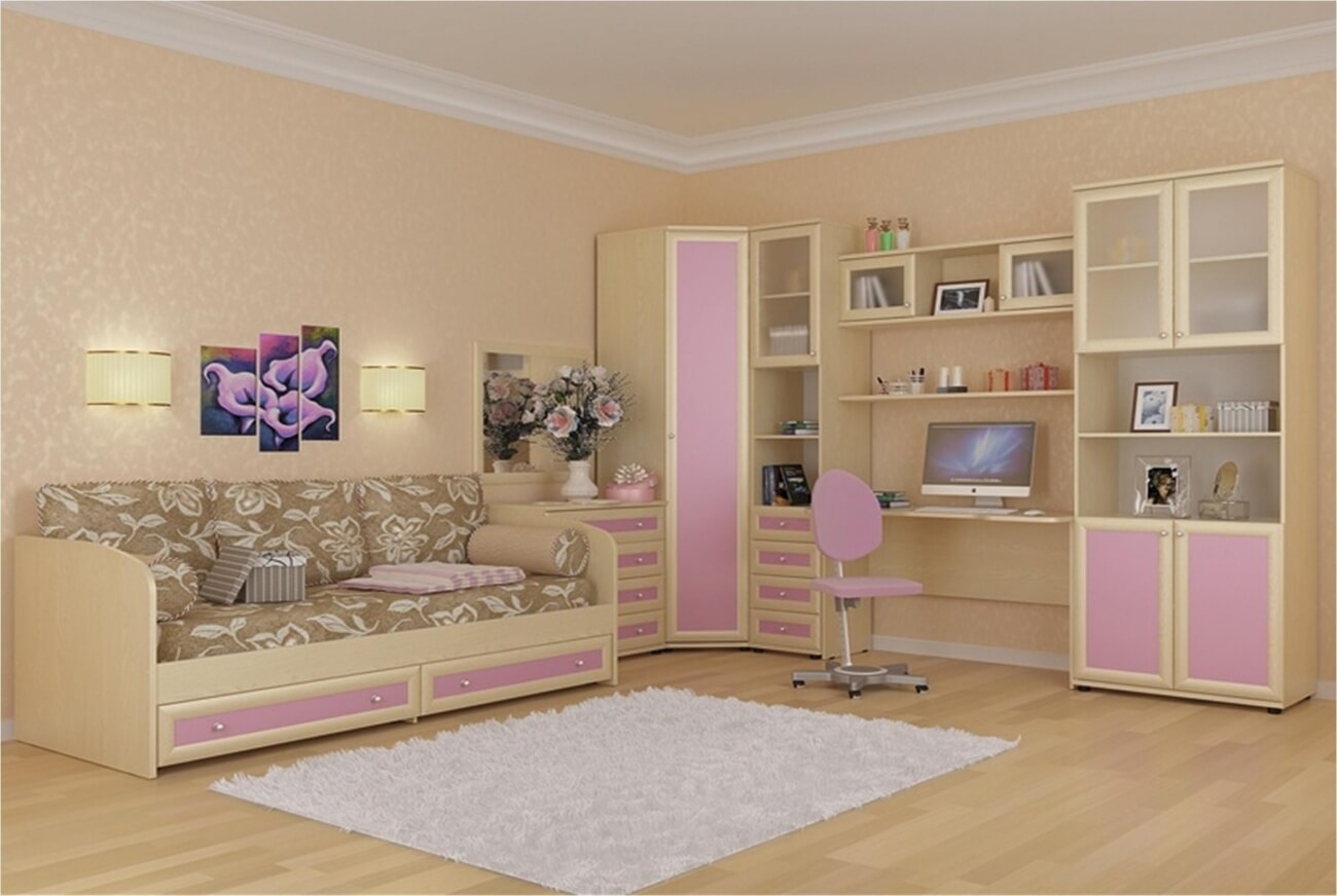 Вариант оформления комнаты для девочки подростка
