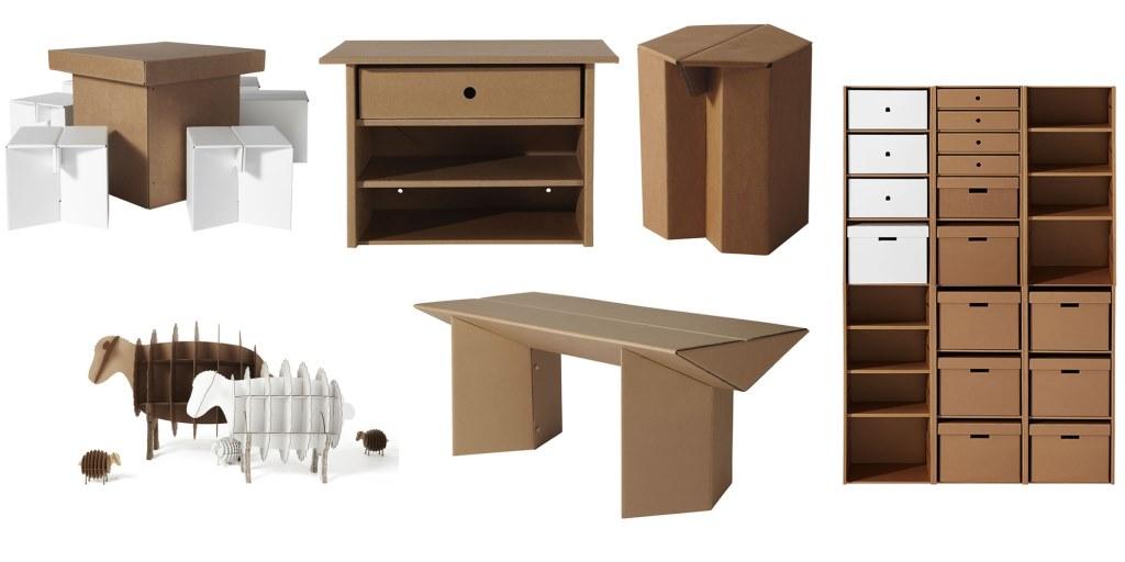 Вариант современной картонной мебели