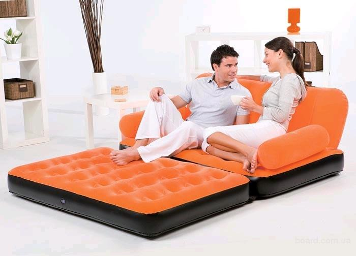 Велюровый диван-трансформер