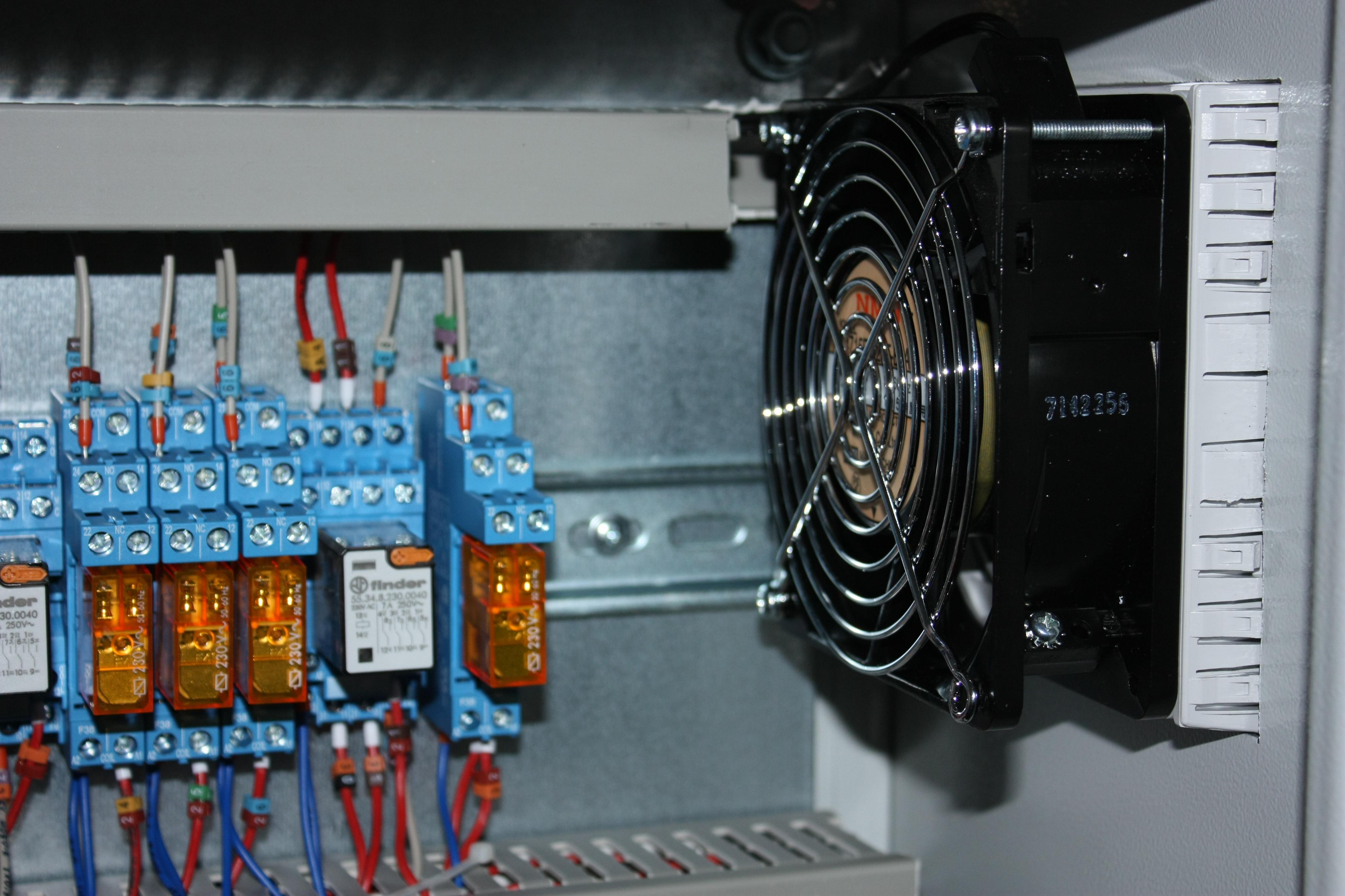 Вентиляция шкафа управления
