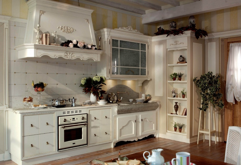 Винтажная мебель для кухни