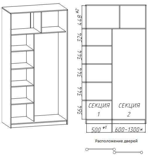 шкафы купе фото размеры