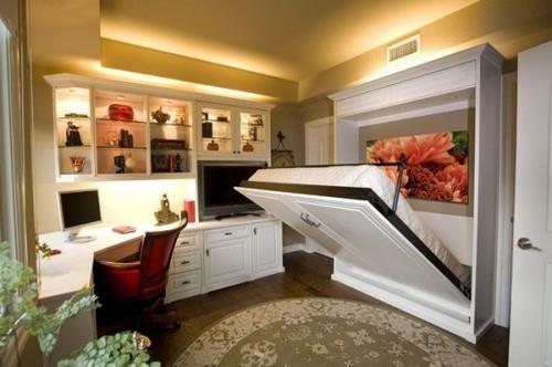 Встроенная кровать для небольшой спальни