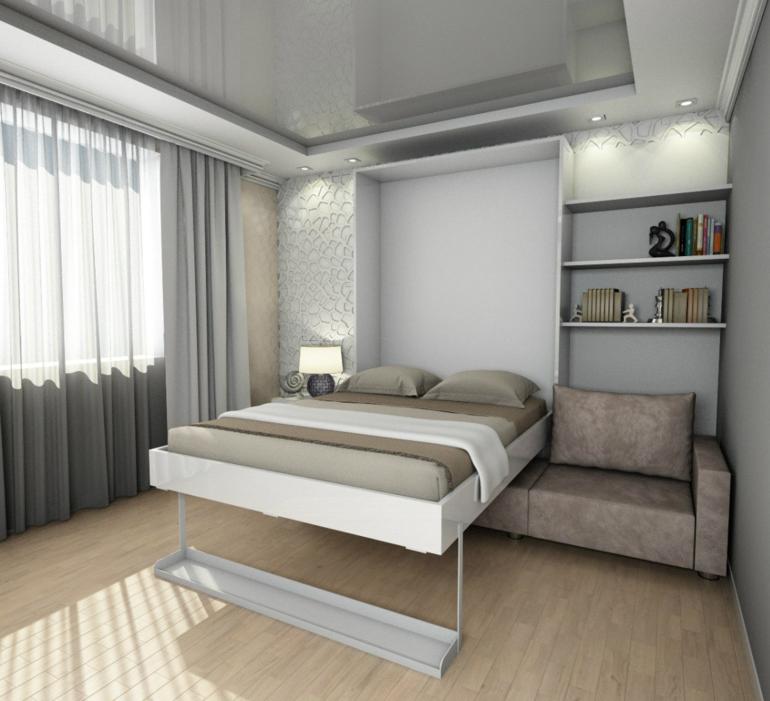 Встроенная кровать в однушке
