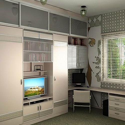 Встроенный шкаф для подростковой комнаты