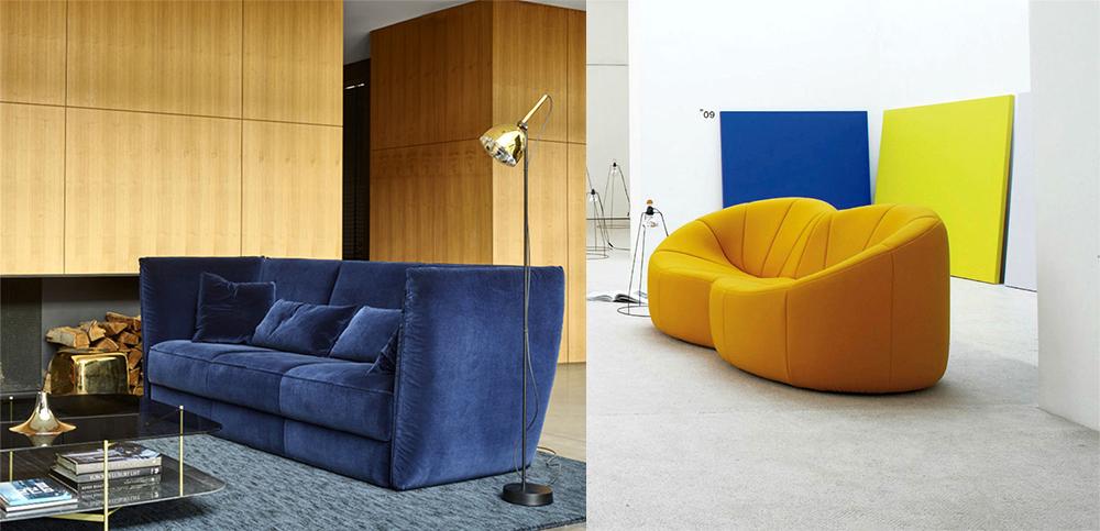 Яркие акценты на мебели