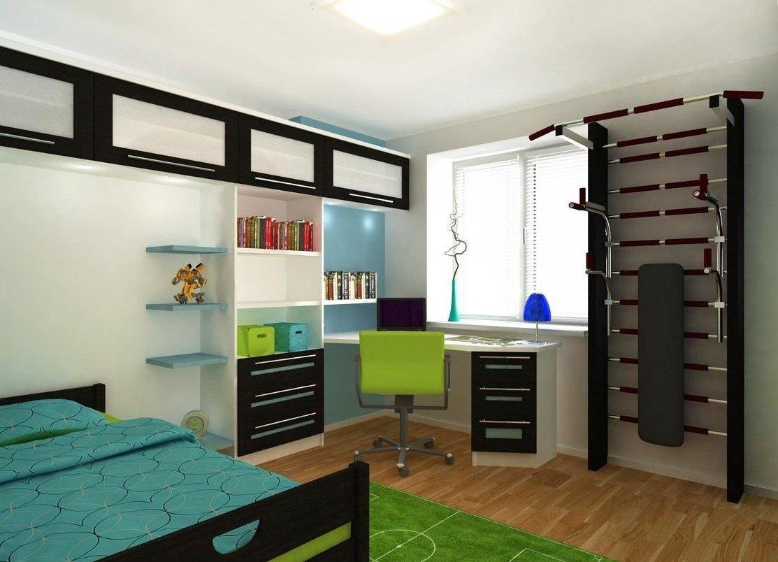 Яркие элементы декора в спальне ребенка