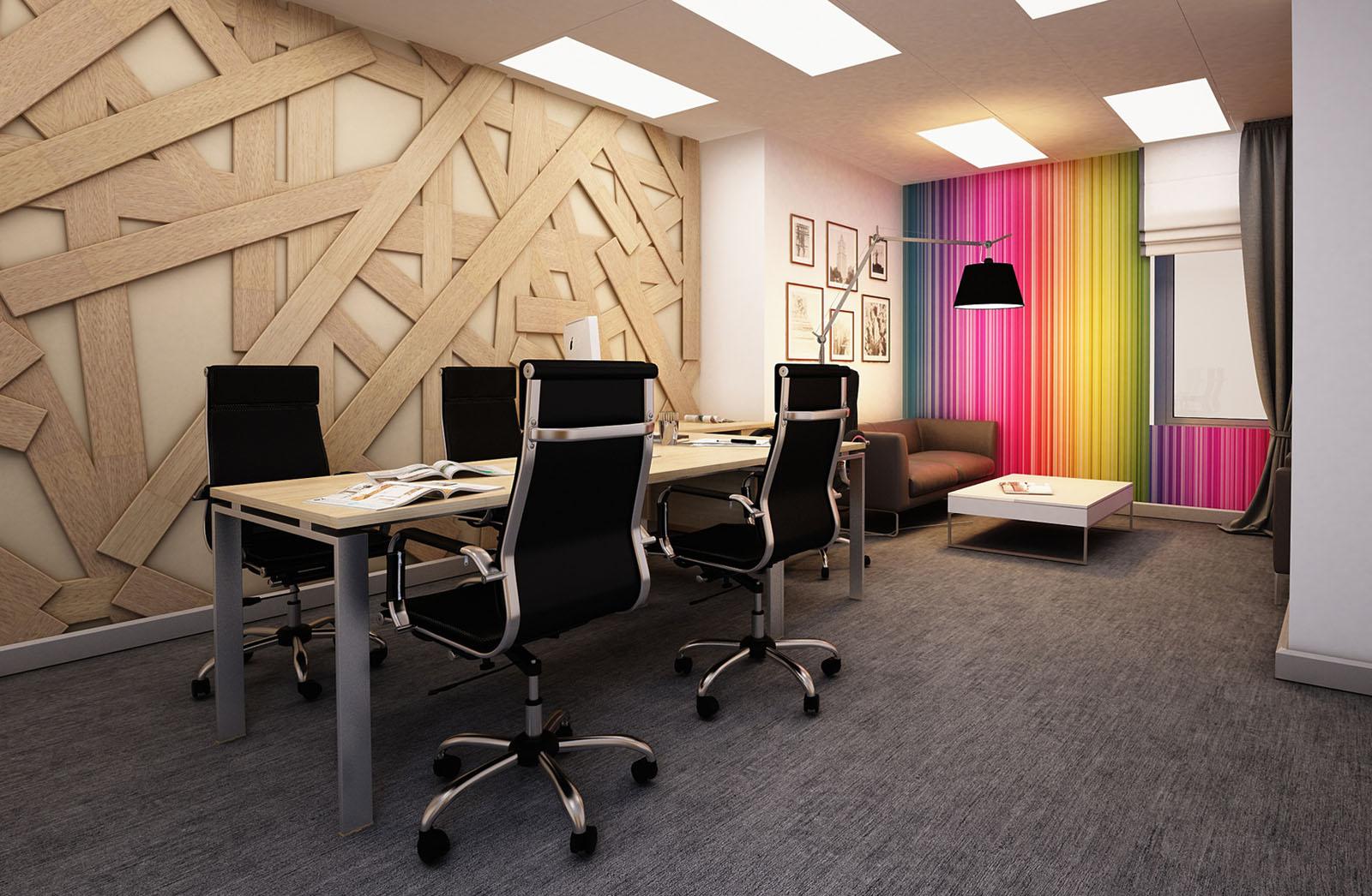 Яркие элементы для офиса будут популярны в 2018 году