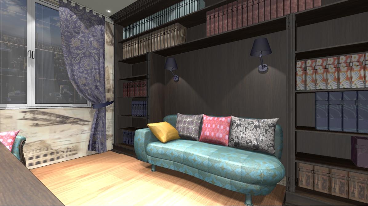 Яркий диван для комнаты