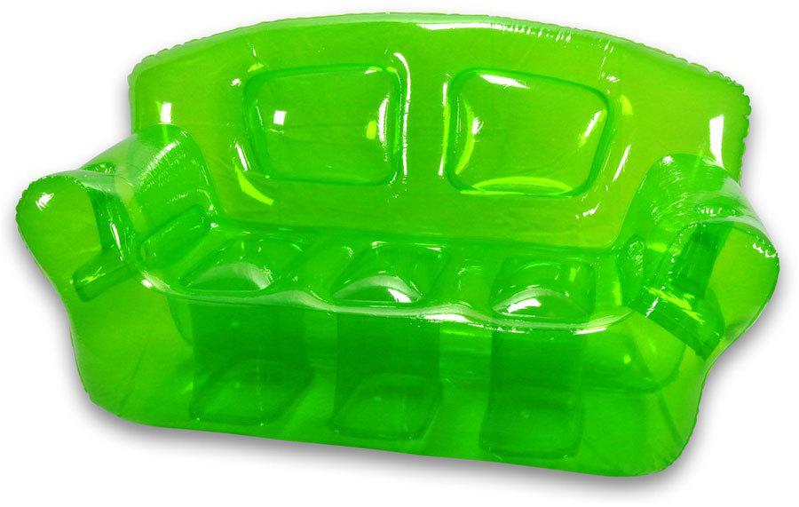 Яркий зеленый прозрачный диван