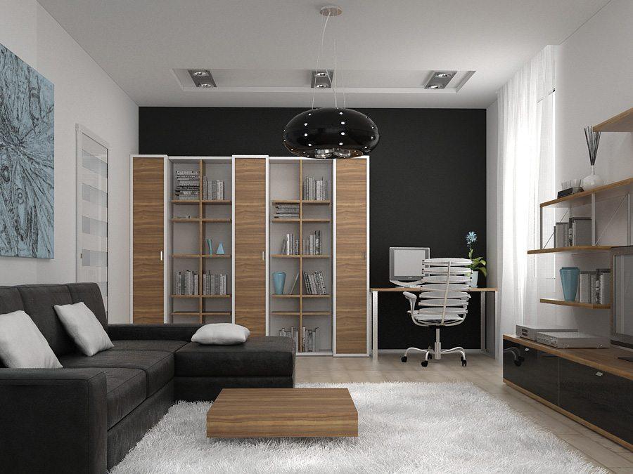 Зал в однокомнатной квартире