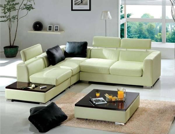 Зеленый диван и кресла