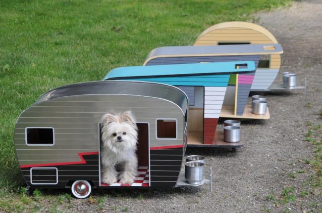 Алюминиевый домик для собаки