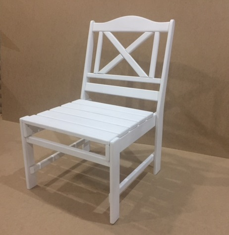 Авторский белый стул