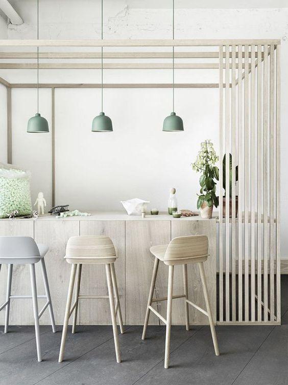 Барные стулья в скандинавском интерьере