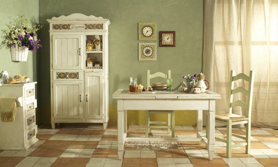 Белая корпусная мебель под старину